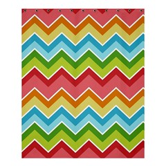 Colorful Background Of Chevrons Zigzag Pattern Shower Curtain 60  X 72  (medium)
