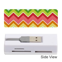 Colorful Background Of Chevrons Zigzag Pattern Memory Card Reader (Stick)