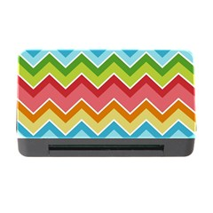 Colorful Background Of Chevrons Zigzag Pattern Memory Card Reader with CF
