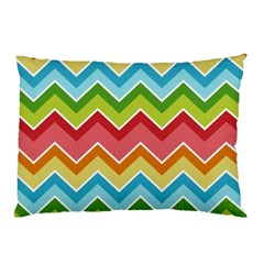 Colorful Background Of Chevrons Zigzag Pattern Pillow Case (two Sides)