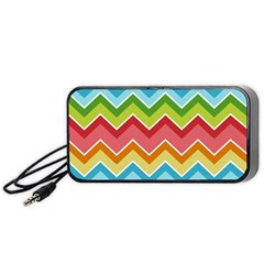 Colorful Background Of Chevrons Zigzag Pattern Portable Speaker (Black)