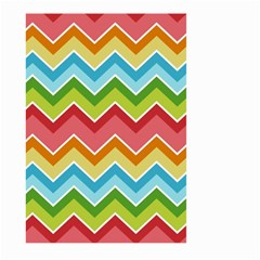 Colorful Background Of Chevrons Zigzag Pattern Large Garden Flag (Two Sides)