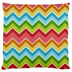 Colorful Background Of Chevrons Zigzag Pattern Large Cushion Case (two Sides)