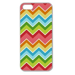 Colorful Background Of Chevrons Zigzag Pattern Apple Seamless Iphone 5 Case (clear)