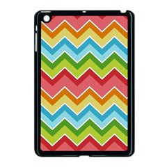 Colorful Background Of Chevrons Zigzag Pattern Apple iPad Mini Case (Black)