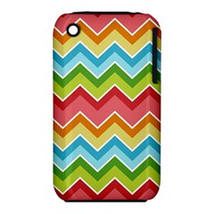Colorful Background Of Chevrons Zigzag Pattern iPhone 3S/3GS