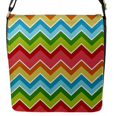Colorful Background Of Chevrons Zigzag Pattern Flap Messenger Bag (S)