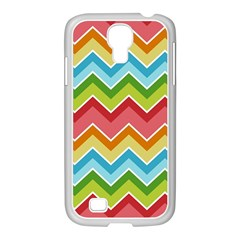 Colorful Background Of Chevrons Zigzag Pattern Samsung Galaxy S4 I9500/ I9505 Case (white)
