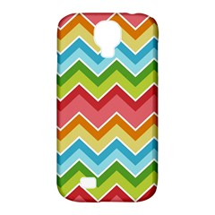 Colorful Background Of Chevrons Zigzag Pattern Samsung Galaxy S4 Classic Hardshell Case (pc+silicone)