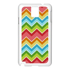 Colorful Background Of Chevrons Zigzag Pattern Samsung Galaxy Note 3 N9005 Case (white)