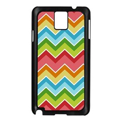 Colorful Background Of Chevrons Zigzag Pattern Samsung Galaxy Note 3 N9005 Case (black)