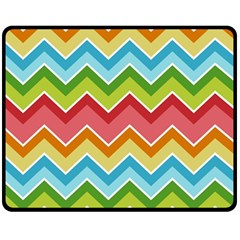 Colorful Background Of Chevrons Zigzag Pattern Double Sided Fleece Blanket (medium)