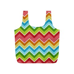 Colorful Background Of Chevrons Zigzag Pattern Full Print Recycle Bags (s)