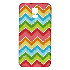 Colorful Background Of Chevrons Zigzag Pattern Samsung Galaxy S5 Back Case (white)