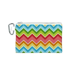 Colorful Background Of Chevrons Zigzag Pattern Canvas Cosmetic Bag (s)