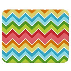 Colorful Background Of Chevrons Zigzag Pattern Double Sided Flano Blanket (medium)