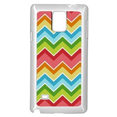Colorful Background Of Chevrons Zigzag Pattern Samsung Galaxy Note 4 Case (white)