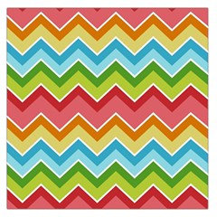 Colorful Background Of Chevrons Zigzag Pattern Large Satin Scarf (square)
