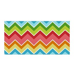Colorful Background Of Chevrons Zigzag Pattern Satin Wrap