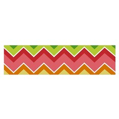 Colorful Background Of Chevrons Zigzag Pattern Satin Scarf (oblong)