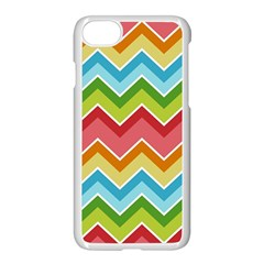 Colorful Background Of Chevrons Zigzag Pattern Apple Iphone 7 Seamless Case (white)