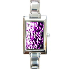 Bokeh Background In Purple Color Rectangle Italian Charm Watch