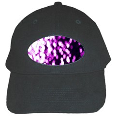 Bokeh Background In Purple Color Black Cap