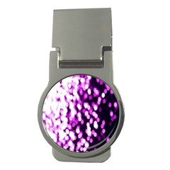 Bokeh Background In Purple Color Money Clips (round)