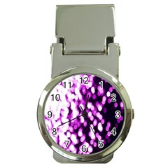 Bokeh Background In Purple Color Money Clip Watches