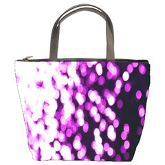 Bokeh Background In Purple Color Bucket Bags