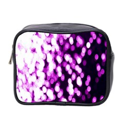 Bokeh Background In Purple Color Mini Toiletries Bag 2 Side