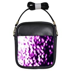 Bokeh Background In Purple Color Girls Sling Bags