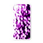 Bokeh Background In Purple Color Apple iPhone 4 Case (White) Front