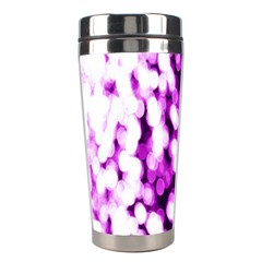 Bokeh Background In Purple Color Stainless Steel Travel Tumblers