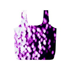 Bokeh Background In Purple Color Full Print Recycle Bags (s)