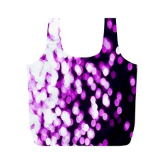 Bokeh Background In Purple Color Full Print Recycle Bags (m)
