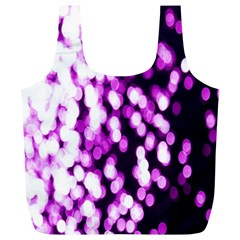 Bokeh Background In Purple Color Full Print Recycle Bags (l)