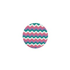 Chevron Pattern Colorful Art 1  Mini Magnets