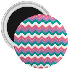 Chevron Pattern Colorful Art 3  Magnets