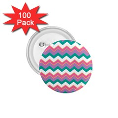 Chevron Pattern Colorful Art 1 75  Buttons (100 Pack)