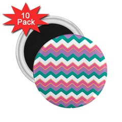 Chevron Pattern Colorful Art 2.25  Magnets (10 pack)