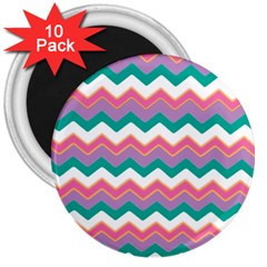 Chevron Pattern Colorful Art 3  Magnets (10 Pack)