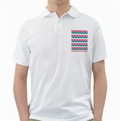 Chevron Pattern Colorful Art Golf Shirts