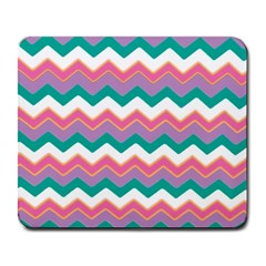Chevron Pattern Colorful Art Large Mousepads