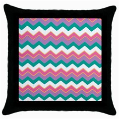 Chevron Pattern Colorful Art Throw Pillow Case (black)
