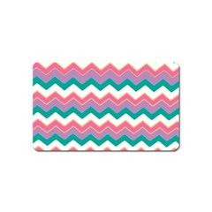 Chevron Pattern Colorful Art Magnet (name Card)