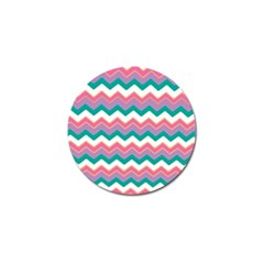 Chevron Pattern Colorful Art Golf Ball Marker (10 Pack)