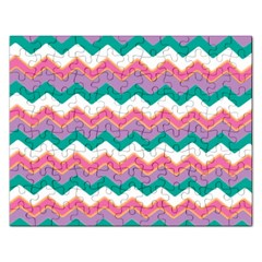 Chevron Pattern Colorful Art Rectangular Jigsaw Puzzl