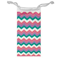 Chevron Pattern Colorful Art Jewelry Bag