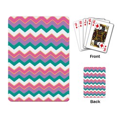 Chevron Pattern Colorful Art Playing Card